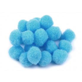 Pompony 15mm – niebieskie, 25szt