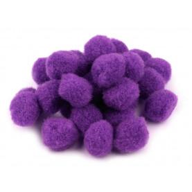 Pompony 15mm – fioletowe