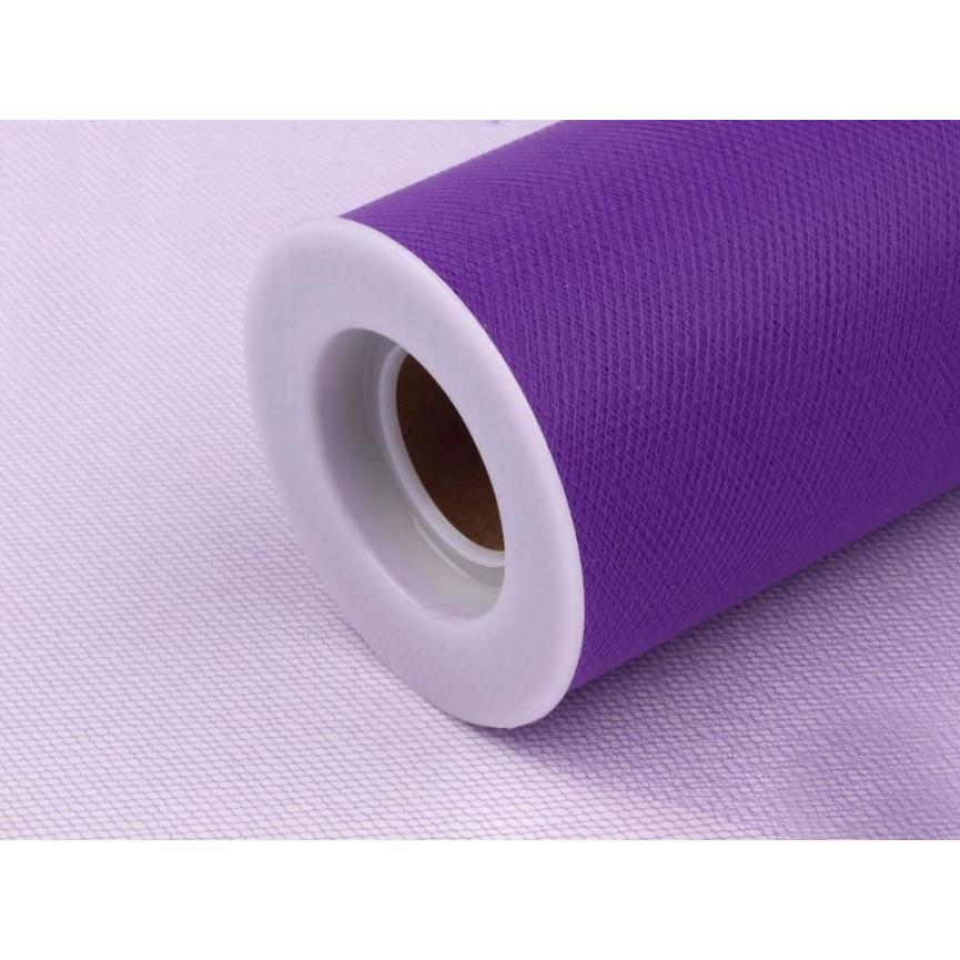 Tiul dekoracyjny 15cm szerokości - fioletowy