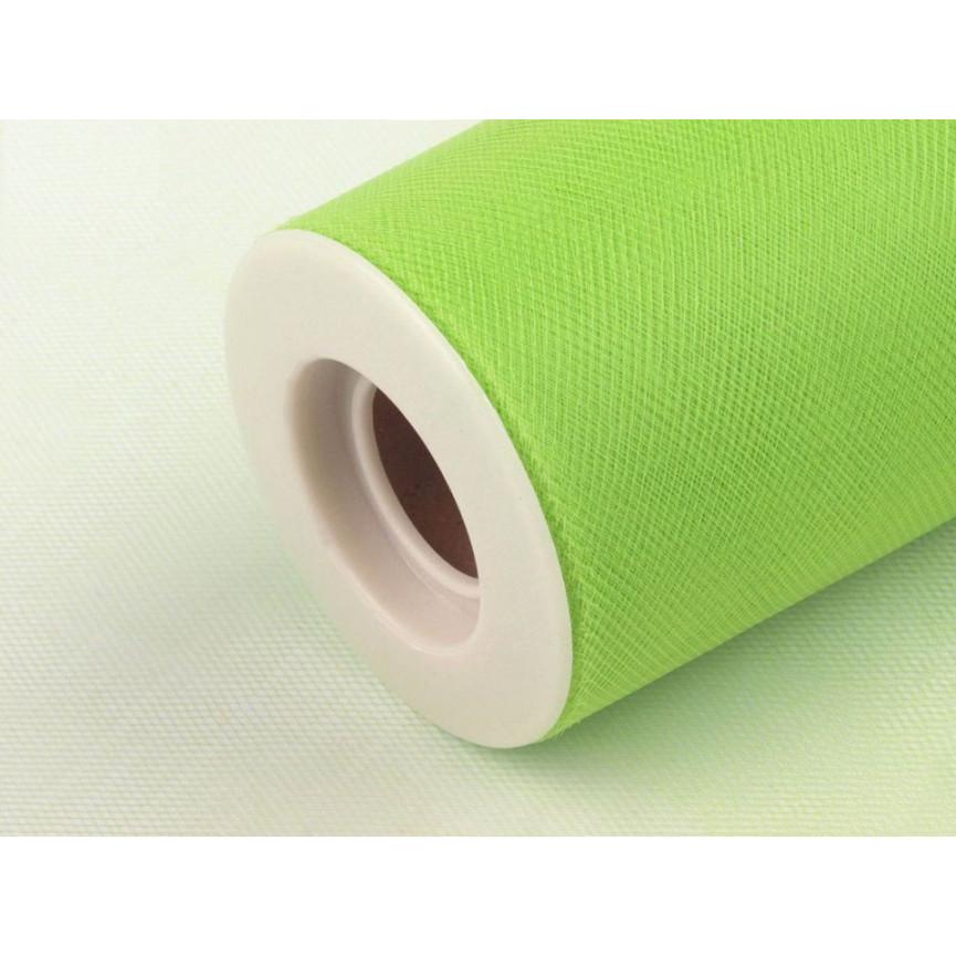 Tiul dekoracyjny 15cm szerokości - jasny zielony