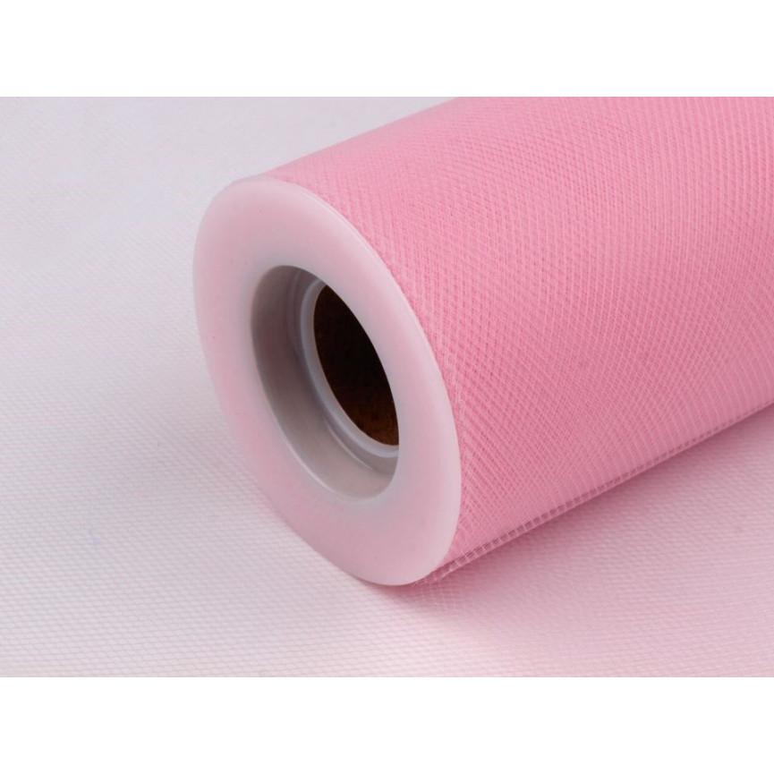 Tiul dekoracyjny 15cm szerokości - różowy