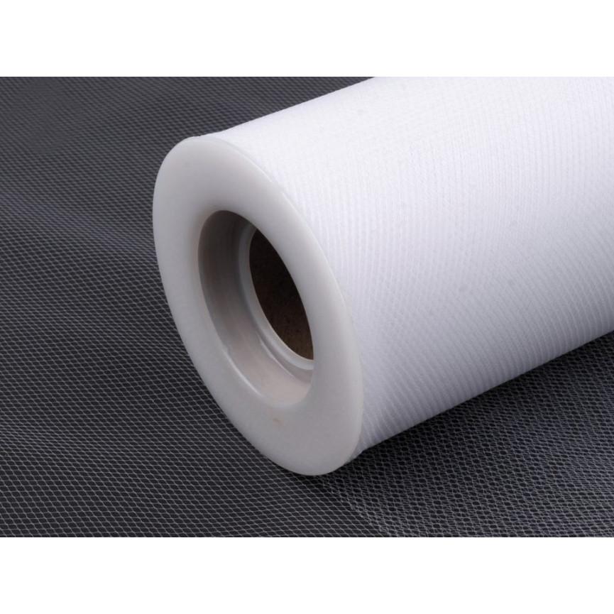Tiul dekoracyjny 15cm szerokości - biały