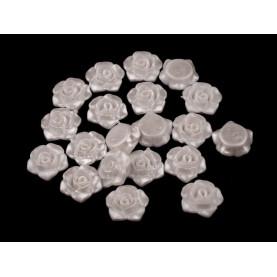 Białe - Różyczki koraliki – 13mm