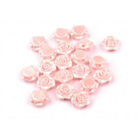Różowe - Różyczki koraliki – 13mm