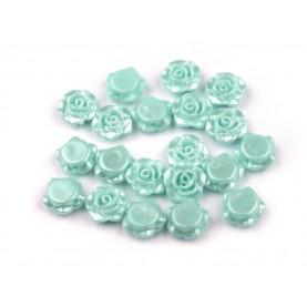 Turkusowe - Różyczki koraliki – 13mm