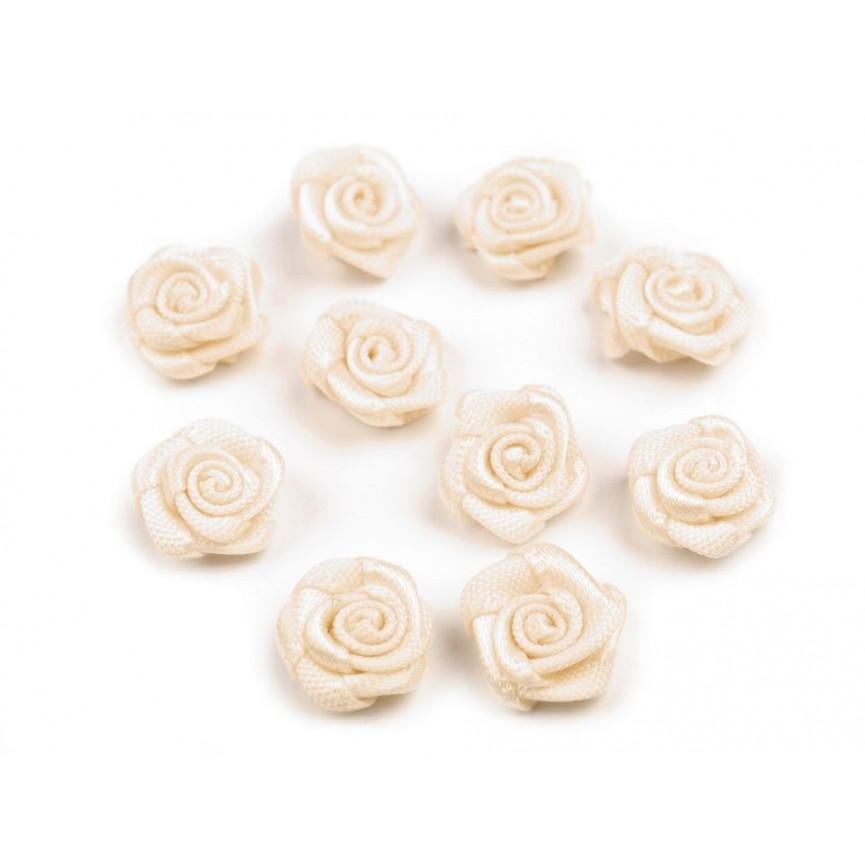 Różyczki 10mm satynowe - BEŻOWE