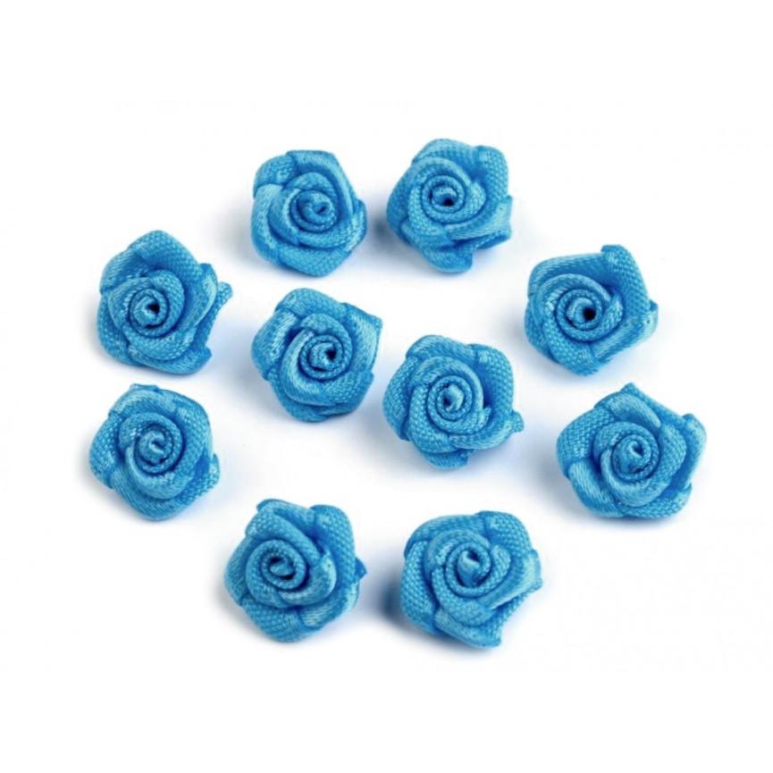 Różyczki 10mm satynowe - NIEBIESKIE