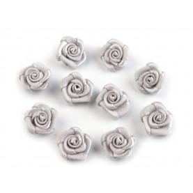 Różyczki 10mm satynowe - SZARE