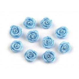 Różyczki 10mm satynowe - BŁĘKITNE - 10szt.