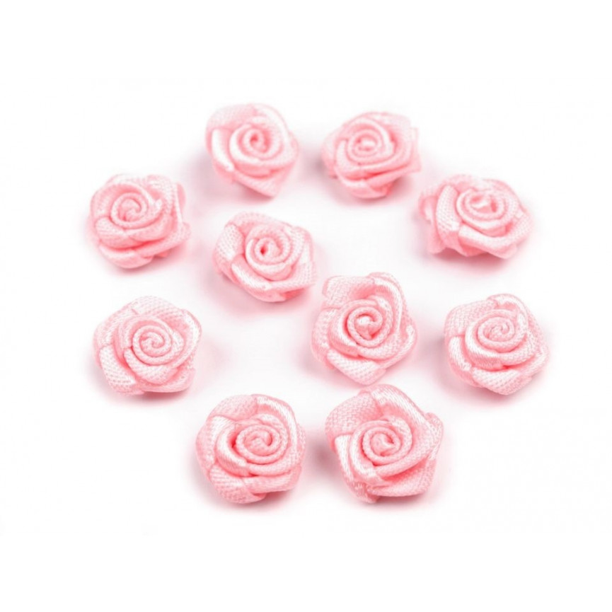 Różyczki 10mm satynowe - RÓŻOWE