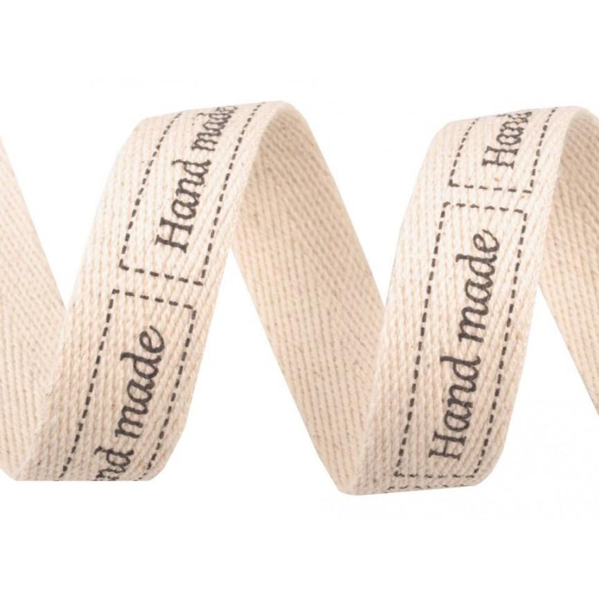 Wstążka HAND MADE , z napisem, 20mm - 3metry