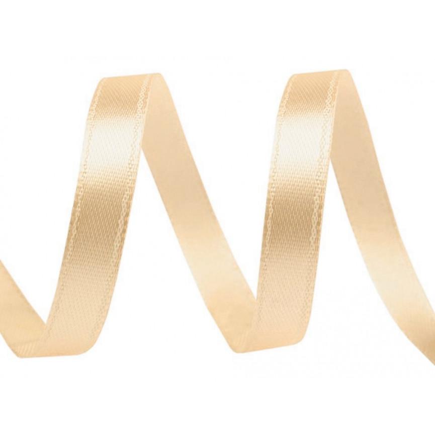 Wstążka satynowa wąska, 6mm - BEŻOWA