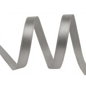 Wstążka satynowa wąska, 6mm - SZARA CIEMNA - 30mb