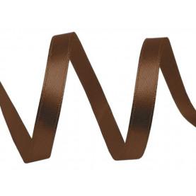 Wstążka satynowa wąska, 6mm - BRĄZOWA - 30mb