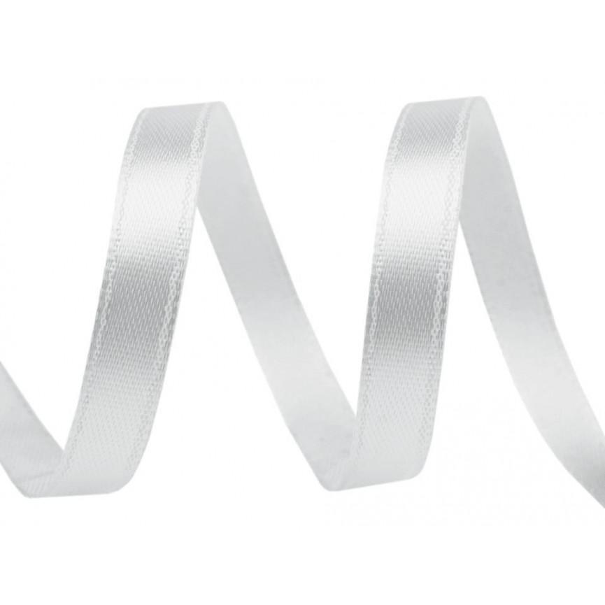 Wstążka satynowa wąska, 6mm - SZARA JASNA - 30mb