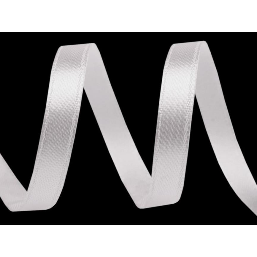 Wstążka satynowa wąska, 6mm - BIAŁA