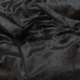 tkanina pluszowa czarna