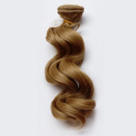 BLOND Bardzo Ciemny - Falowane 15cm - Włosy Do Lalek