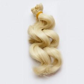 BLOND Lodowy (29) - Falowane 15cm - Włosy Do Lalek