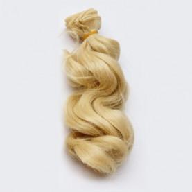 ZŁOTY BLOND Falowane 15cm Włosy Do Lalek