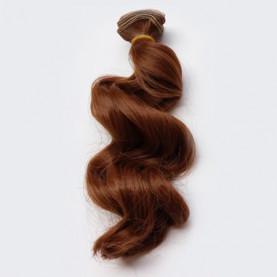 BRĄZOWE Falowane 15cm Włosy Do Lalek