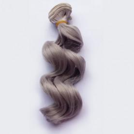 SREBRNY - Falowane 15cm - Włosy Do Lalek
