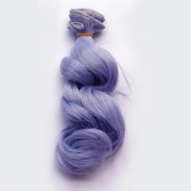 NIEBIESKI - Falowane 15cm - Włosy Do Lalek