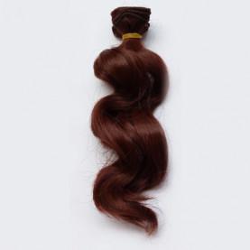 MAHOŃ Falowane 15cm Włosy Do Lalek