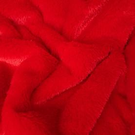 tkanina pluszowa czerwona