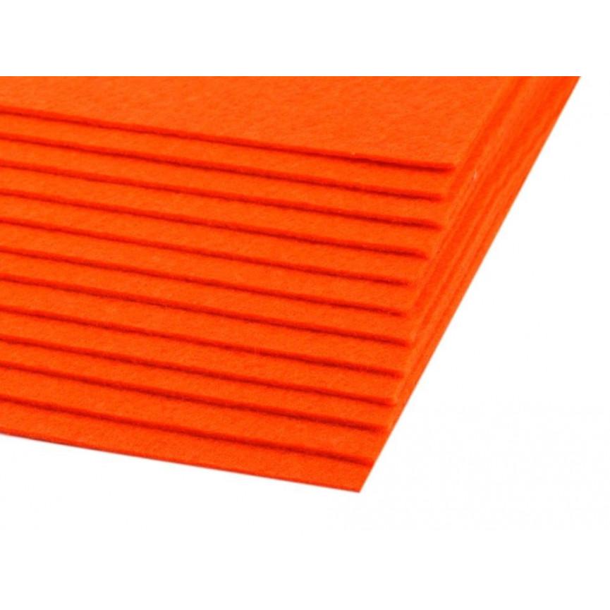 Filc 1,5mm sztywny – A4 pomarańcz neonowa