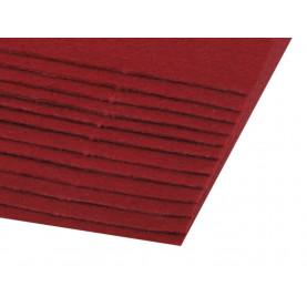 Filc 1,5mm sztywny – A4 bordo