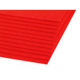 Filc 1,5mm sztywny – A4 czerwień