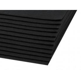 Filc 1,5mm sztywny – A4 czerń