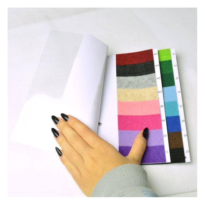Wzornik filców 1,5mm kolorowych