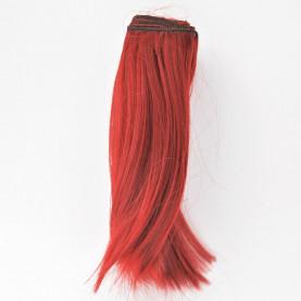BORDOWE Podwinięte 25cm Włosy do Lalek