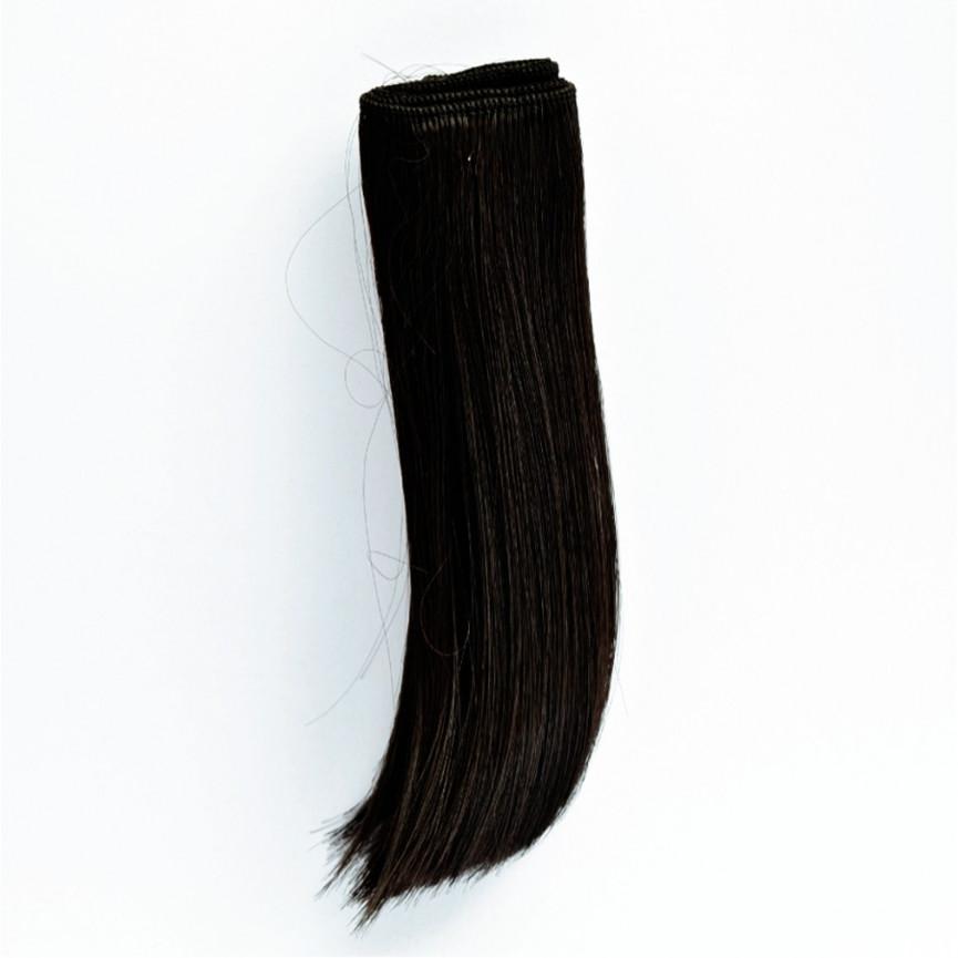 CZARNE Podwinięte 25cm Włosy do Lalek