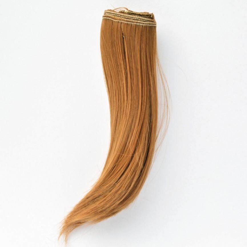 BRĄZOWE Podwinięte 25cm Włosy do Lalek