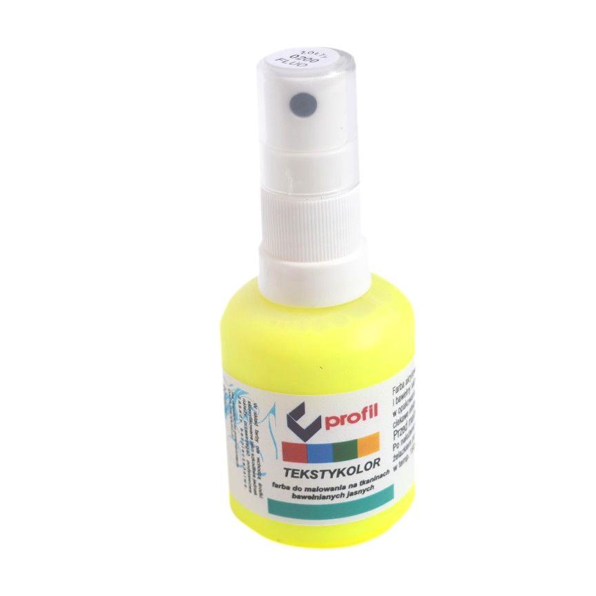 Farba Do Tkanin z Atomizerem 50ml - Żółta Fluo