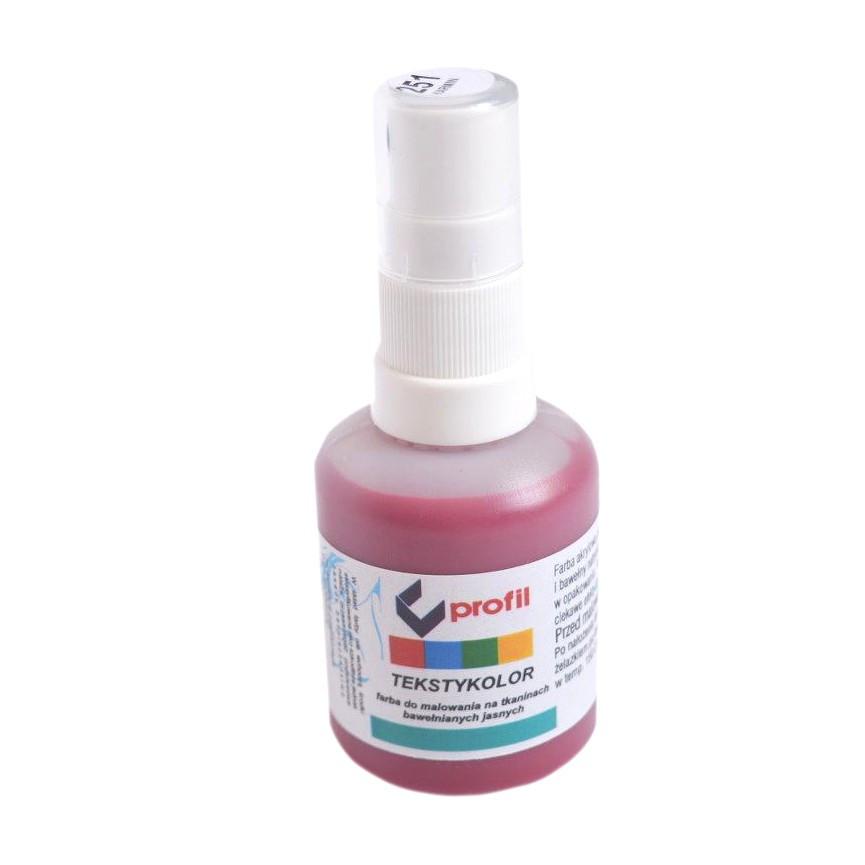 Farba Do Tkanin z Atomizerem 50ml - Karmin