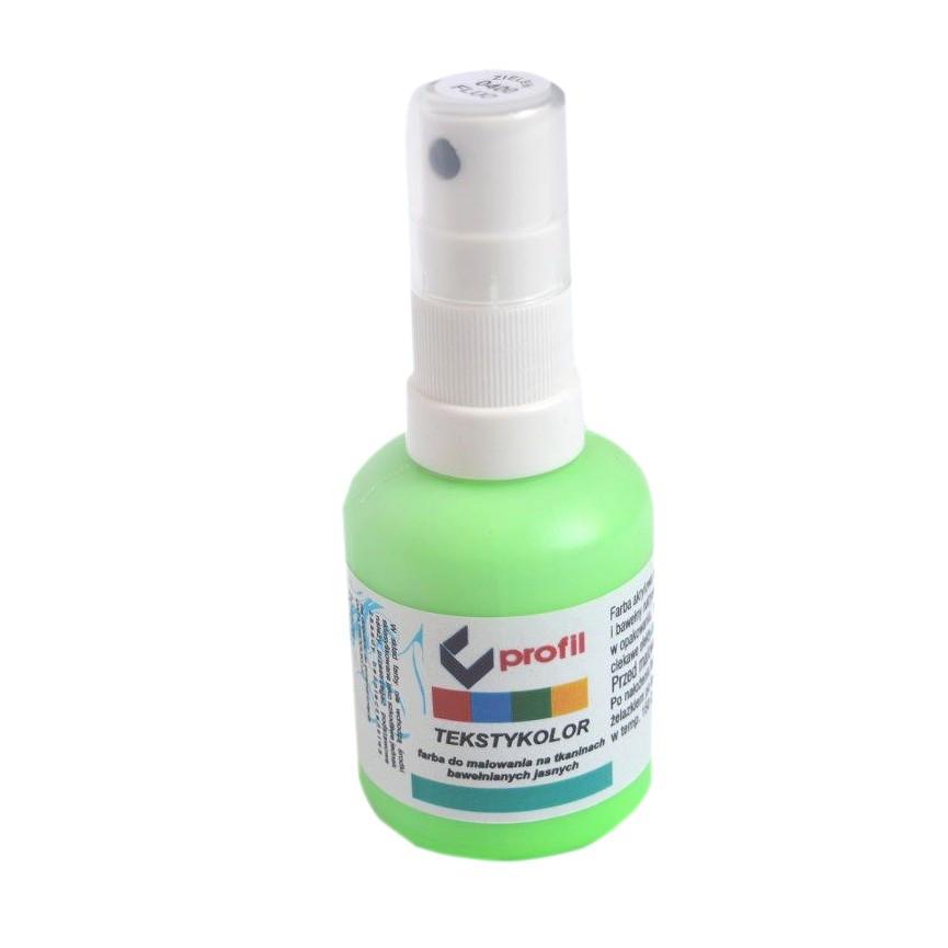 Farba Do Tkanin z Atomizerem 50ml - Zielona Fluo