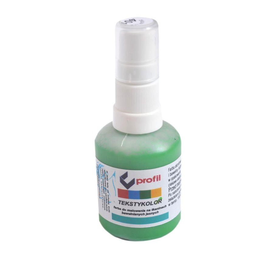 Farba Do Tkanin z Atomizerem 50ml - Zielona Jasna