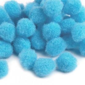 Pompony 10mm – niebieskie