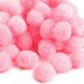 Pompony 10mm – jasno różowe