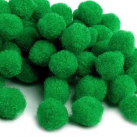 Pompony 10mm – zielone