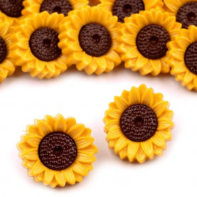Guzik żółty słonecznik-10szt
