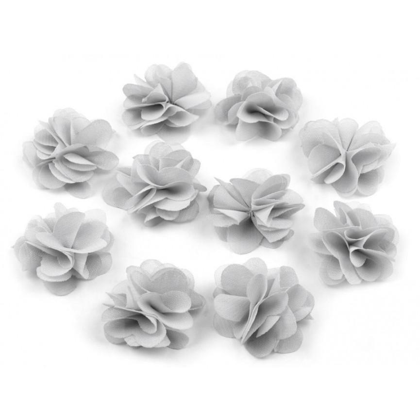 Zwiewne kwiatki 30mm SZARE - 10szt