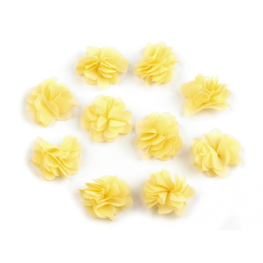 Zwiewne kwiatki 30mm ŻÓŁTE - 10szt