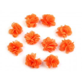 Zwiewne kwiatki 30mm POMARAŃCZOWE - 10szt
