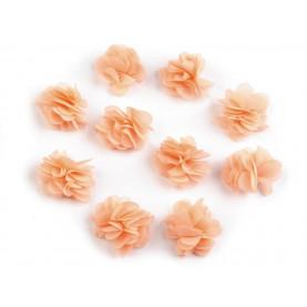 Zwiewne kwiatki 30mm ŁOSOSIOWE - 10szt