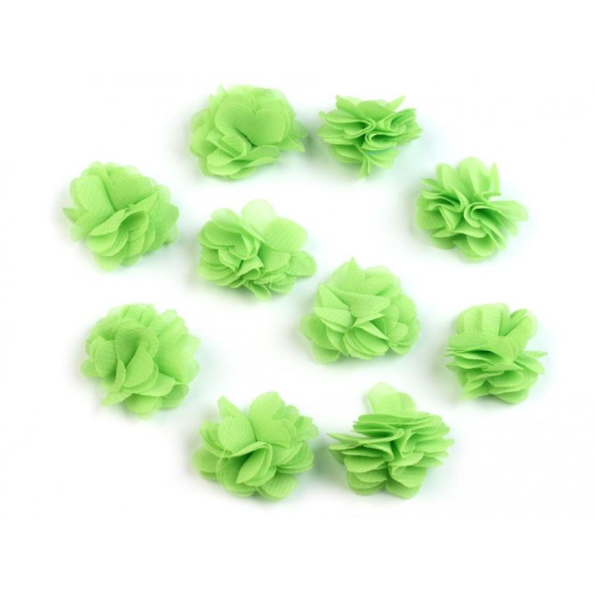Zwiewne kwiatki 30mm ZIELONE - 10szt